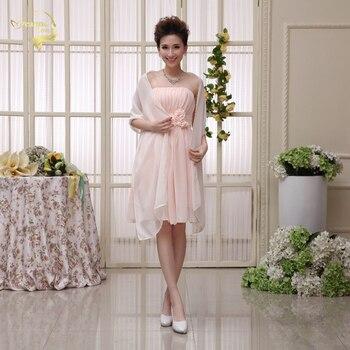 Plus Size 200cm 75cm Cheap Wedding Jacket Wraps Bolero Chiffon Women Cap Wrap Shrug For Wedding