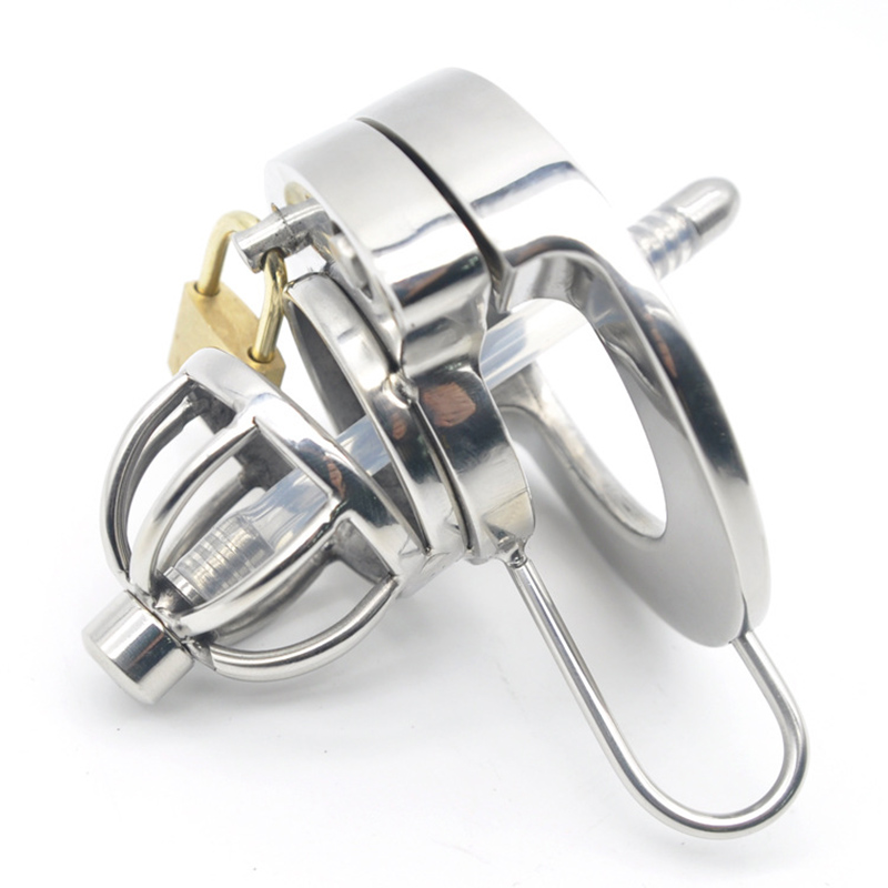 Cock Ring 304 Stainless Steel Chastity Belt Lockable Penis Cage Male Chastity Device With Urethral Catheter Adult Game Sex ToysCock Ring 304 Stainless Steel Chastity Belt Lockable Penis Cage Male Chastity Device With Urethral Catheter Adult Game Sex Toys