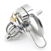 Cock Ring 304 Stainless Steel Chastity Belt Lockable Penis Cage Male Chastity Device With Urethral Catheter Adult Game Sex Toys