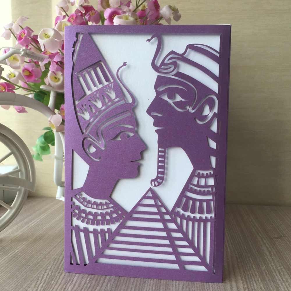 50 pcs motif sculpté délicat personnalisable Initations carte événement et fête fournitures carte de voeux Invitations de mariage