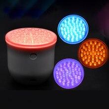 LED Photon Rejuvenation home use ultrasonic 4 LED color light vibration Massage Device Shape flawless skin for Acne Remove