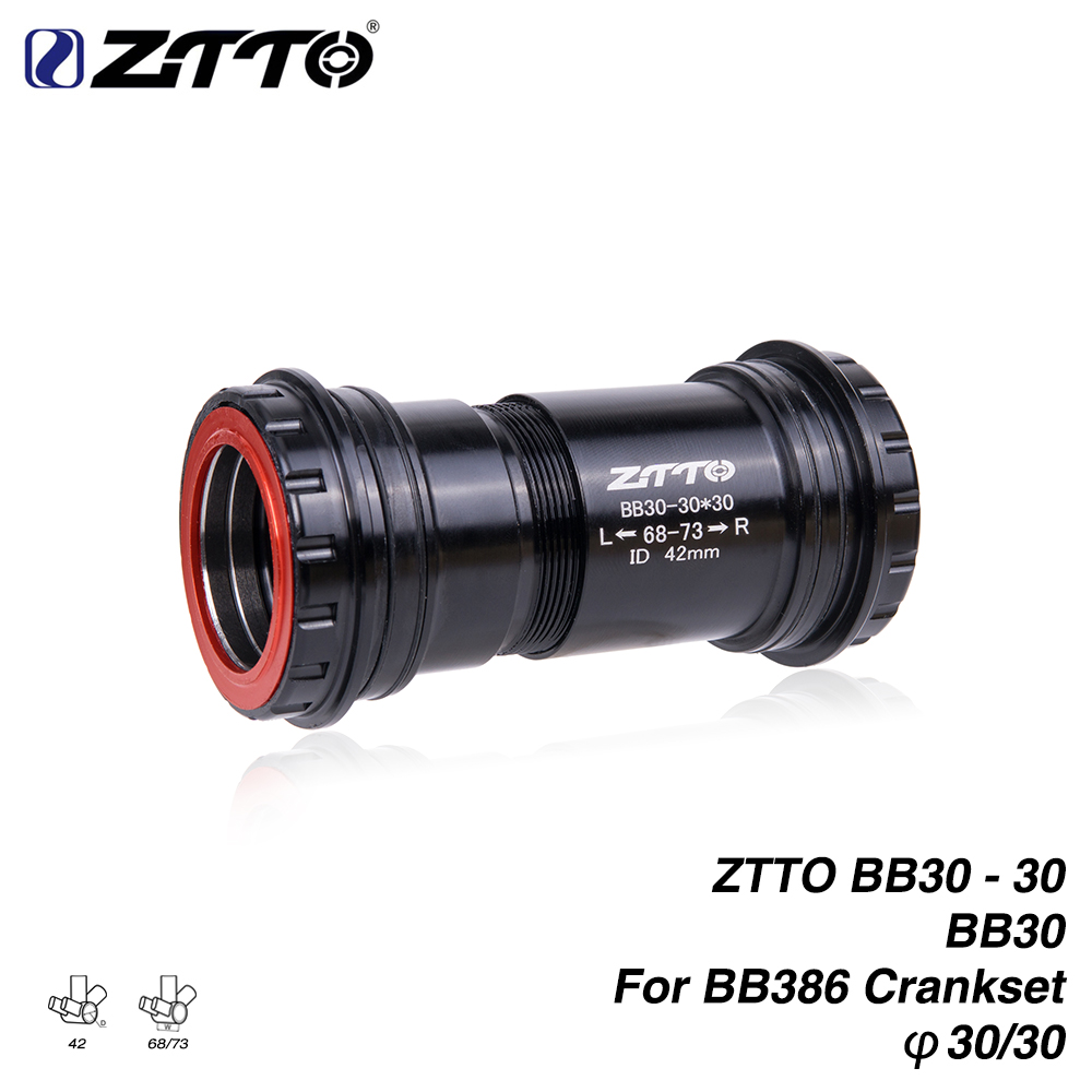 ZTTO BB30 30 Threaded Press Fit Bottom Bracket for BB30 (42x68/73mm) Frame to BB386 Crankset 4 Bearings Bicycle Bottom Bracket
