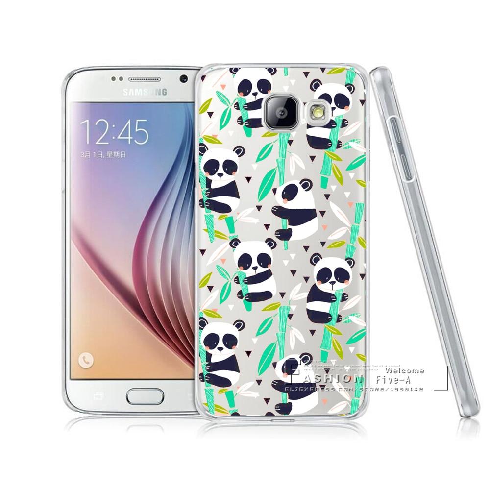 Galleria fotografica Cassa del telefono Per Samsung Galaxy A3 A5 A7 J1 J5 J7 2016 Animale Del Fumetto Panda Modello Copertura Posteriore Nuova <font><b>Smartphone</b></font> di Protezione Coque