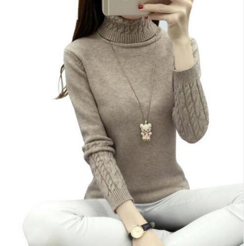 2018 Női Turtleneck téli pulóver nők ősszel hosszú ujjú - Női ruházat