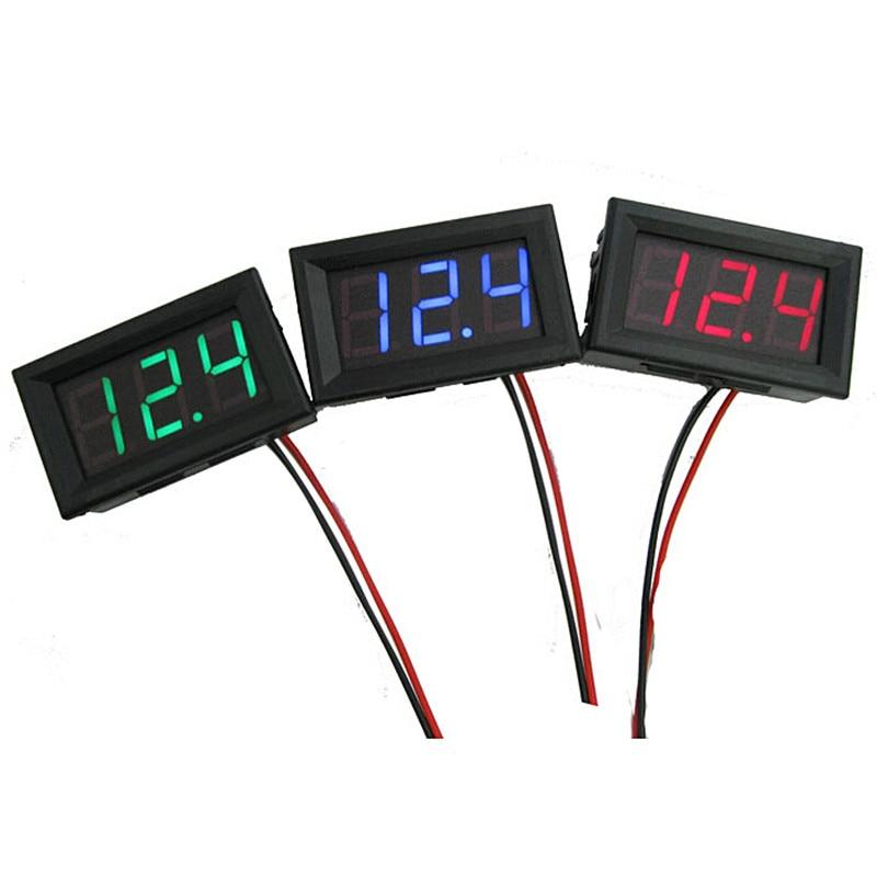 Mini két vezetékes digitális voltmérő piros LED kijelző DC0 ~ - Mérőműszerek - Fénykép 4