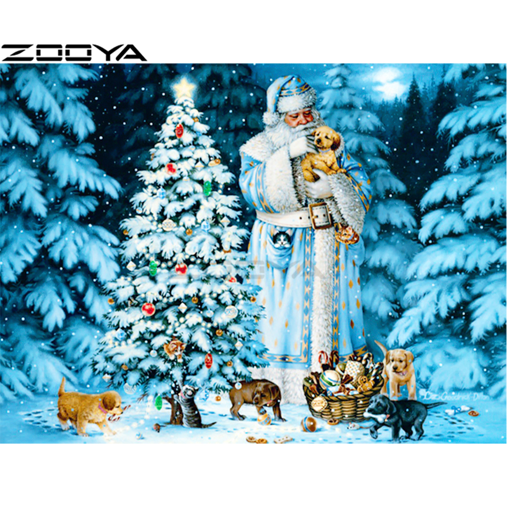 3d Large Size Round Dots Tree Wall Stickers Home Decor: ZOOYA Diamond Painting 3D Full Round Diamond Embroidery