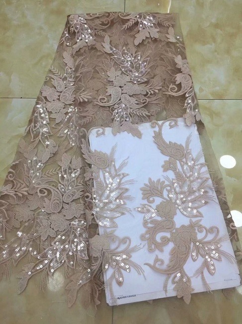 Bridal Lace Fabric Wholesale Girls Party Dresses Net Indian Lace Embroidery African French Sequin Lace Fabric Xdp Perfect In Workmanship Apparel Sewing & Fabric