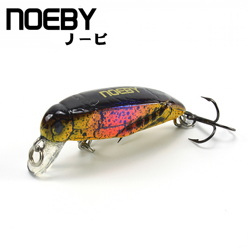 NOEBY Artificial Insect Bait 37mm/2g 0-0.3m Sinking Fishing Lure VMC Treble Hooks Leurre Dur Peche Isca Artificial Pesca Souple noeby nbl9062 fishing lures 66g 140mm pencil sinking leurre peche mer brochet hard fishing bait