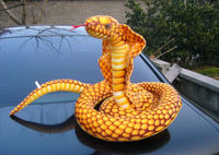 long plush cobra toy creative Lucky snake doll simulaiton gold cobra doll gift about 250cm s1944