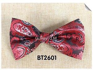 Мода кешью цветы Классический Боути для человека галстуки Регулируемая свадьба лук Галстуки полиэстер человека Bowties - Цвет: BT2601