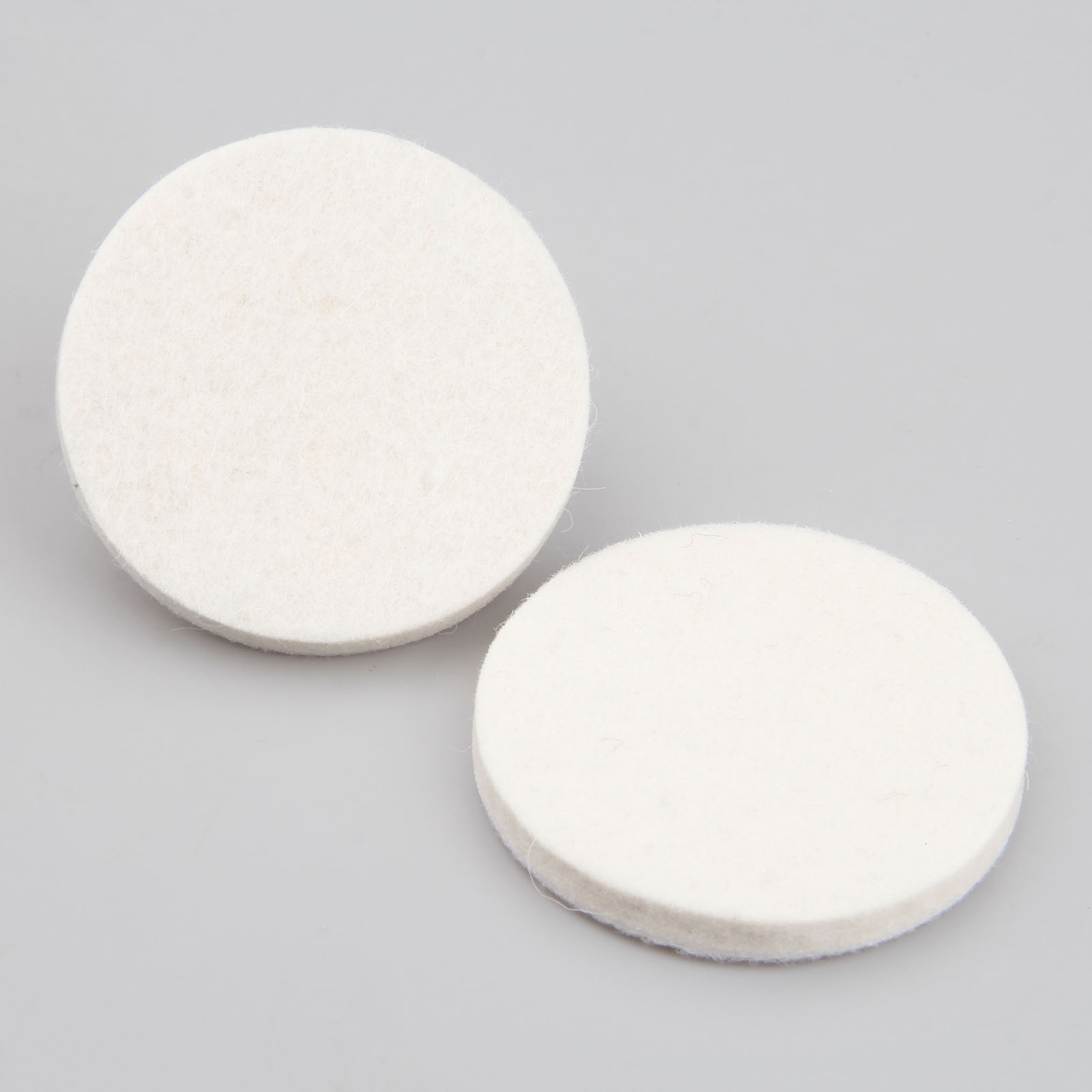 DRELD 2pc 3 Inch 75mm Polishing Pad Wool Felt Polishing Buffing Grind Round Wheel Polisher Disc Pad For Drill Dremel Rotary Tool