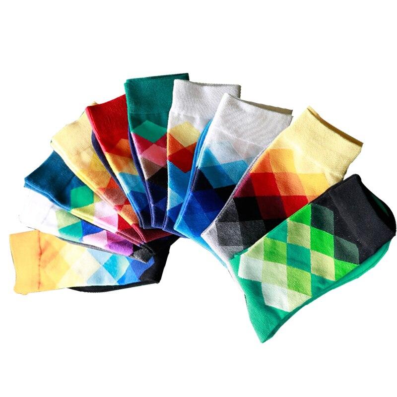 5 pairs / lot mens socks cotton high quality Spring / autumn British fashion mens socks Dress socks for men socks