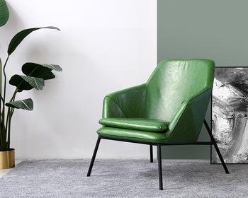 Nordic sofa krzesło osobowość twórcza fotel wypoczynkowy prosta nowoczesna pufa relaksacyjna tanie i dobre opinie Nowoczesne Meble do salonu 82*83*83cm B01# Nowoczesne chińskie Szezlong Meble do domu Skóra syntetyczna CHINA