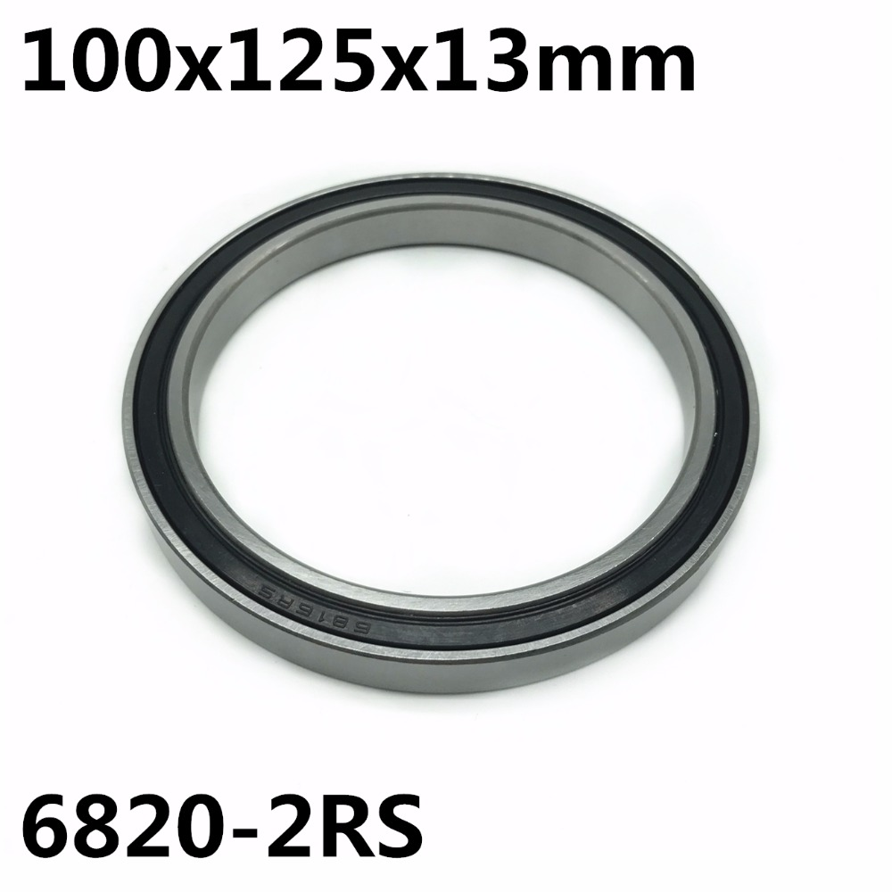 1pcs 6820-2RS 100x125x13 Mm The High Quality Of Ultra-thin Deep Groove Ball Bearings 6820RS 6820
