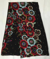 (5 yards/lot) NSL7513-19, Lovely looking silk fabric for lady dress prints silk CDC fabric silk crepe de chine silk fabric 12mm