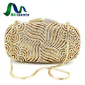 Milisente Milisente Wholesale Luxury Gold Crystal Clutches Lady Dinner Party Purses Women Wedding Clutch Bags