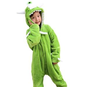 Image 4 - NEW Kids Boys Girls kigurumi Pajamas Set Animal Pegasus Pig Rabbit Pyjamas For Children Flannel Sleepwear Onesie Winter Hooded