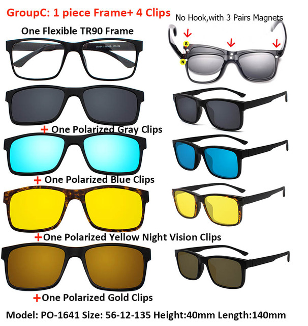 0dae067e6f Товар IVSTA Include Frame Polarized Clip On Sunglasses Men TR90 ...