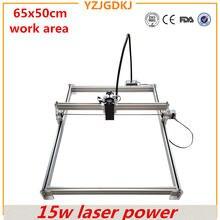 Мощный лазерный гравировальный станок 15 Вт рабочий размер 65x50
