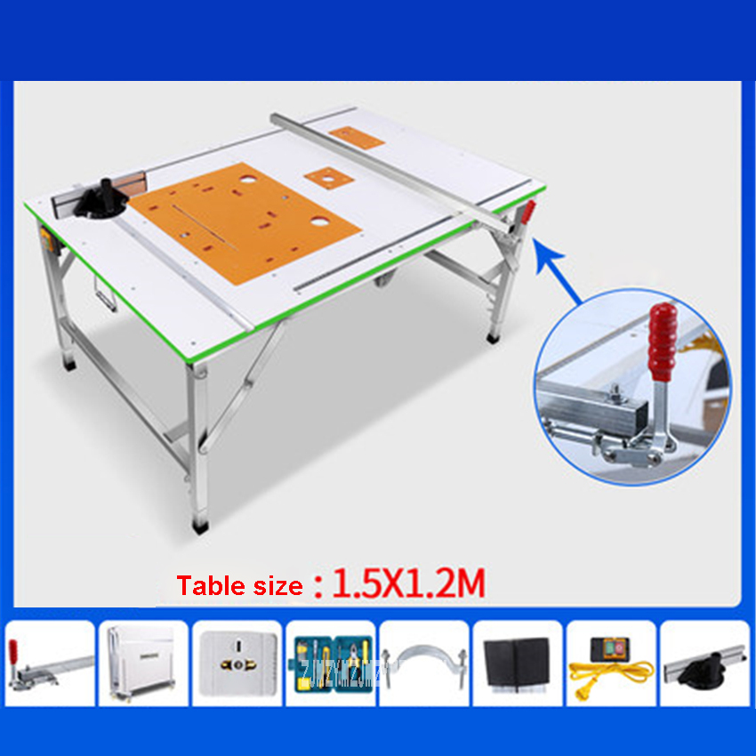 Mgj001 Multifunctional Portable Woodworking Saw Table Work Table High-quality Household Folding Woodworking Workbench (1.5*1.2m)