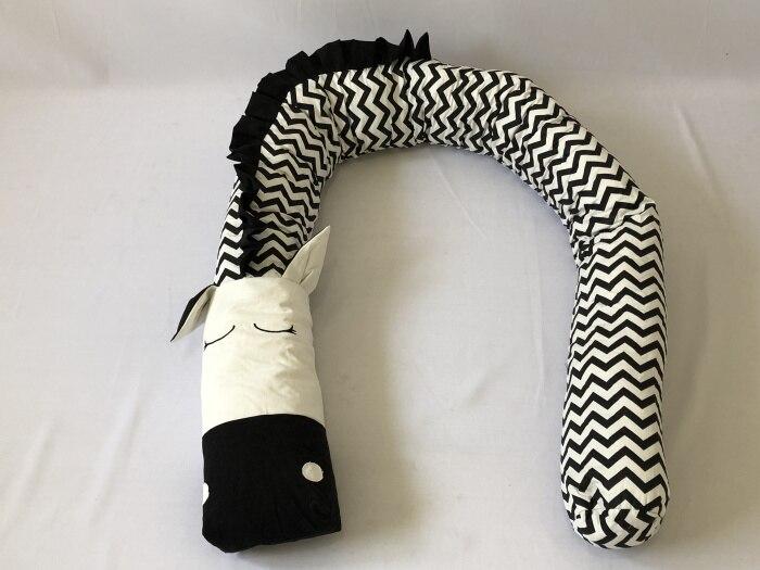 Детские бамперы с единорогом и зеброй, детские постельные принадлежности, бамперы для кроватки, бамперы для кроватки, бамперы для новорожденных, хлопковая защита для кроватки с принтом для младенцев - Цвет: Zebra 300cm