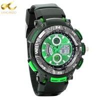 Lancardo Marca Casual Relojes Hombres Reloj de Cuarzo Analógico Reloj de Pulsera Tiempo Dual Display Del Reloj Brújula Impermeable Relogio masculino