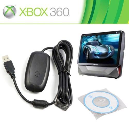Negro Blanco PC juego controlador inalámbrico Adaptadores para USB para Microsoft Xbox 360 para Ventanas XP/7/8