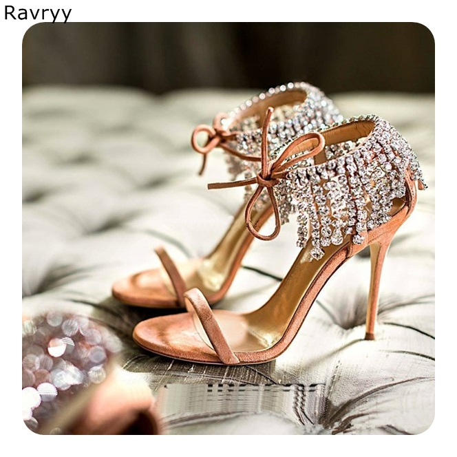 Ankle Crystal <font><b>Shoes</b></font> <font><b>2018</b></font> Summer Woman sandals bling bling rhinestone decor cover <font><b>heel</b></font> <font><b>Sexy</b></font> Pumps thin <font><b>heel</b></font> female high <font><b>heels</b></font> image