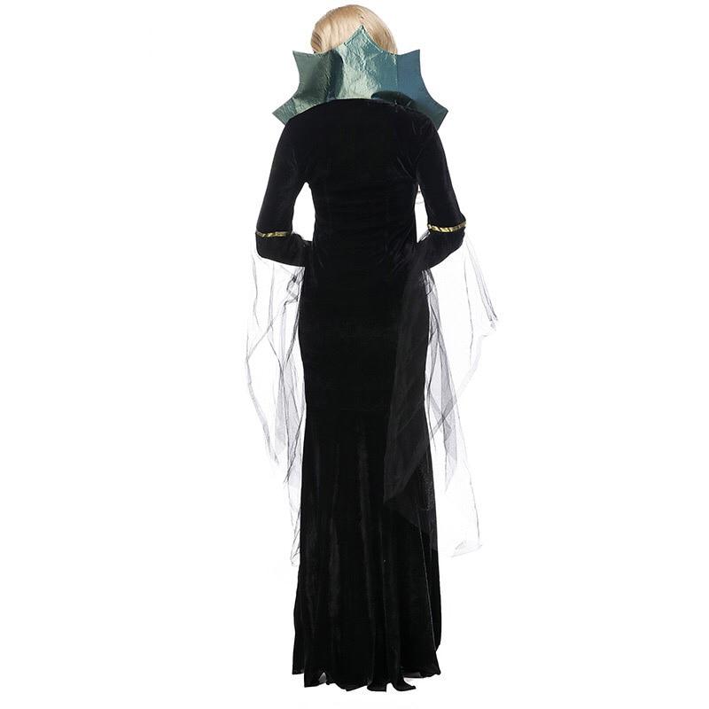 c7138c425 Stand En Fiesta Halloween Larga Negro Disfraces Para Fiestas 2017 Manga  Bruja Vestido Mujeres De Adultas ...