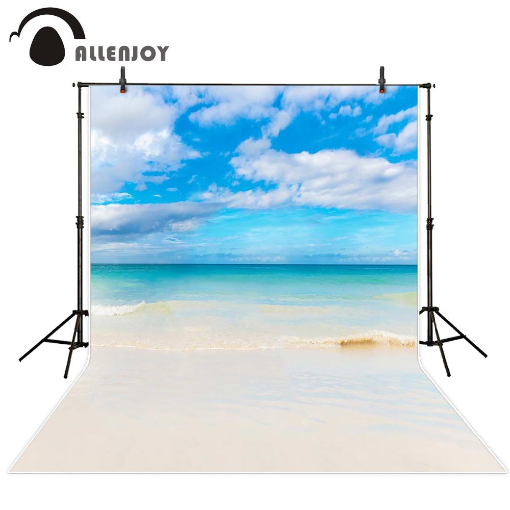 Prix pour Allenjoy 10ftx6. 5ft de mariage Photographie Décors Romantique plage côte skybackground pour photographie studio Personnalisé taille