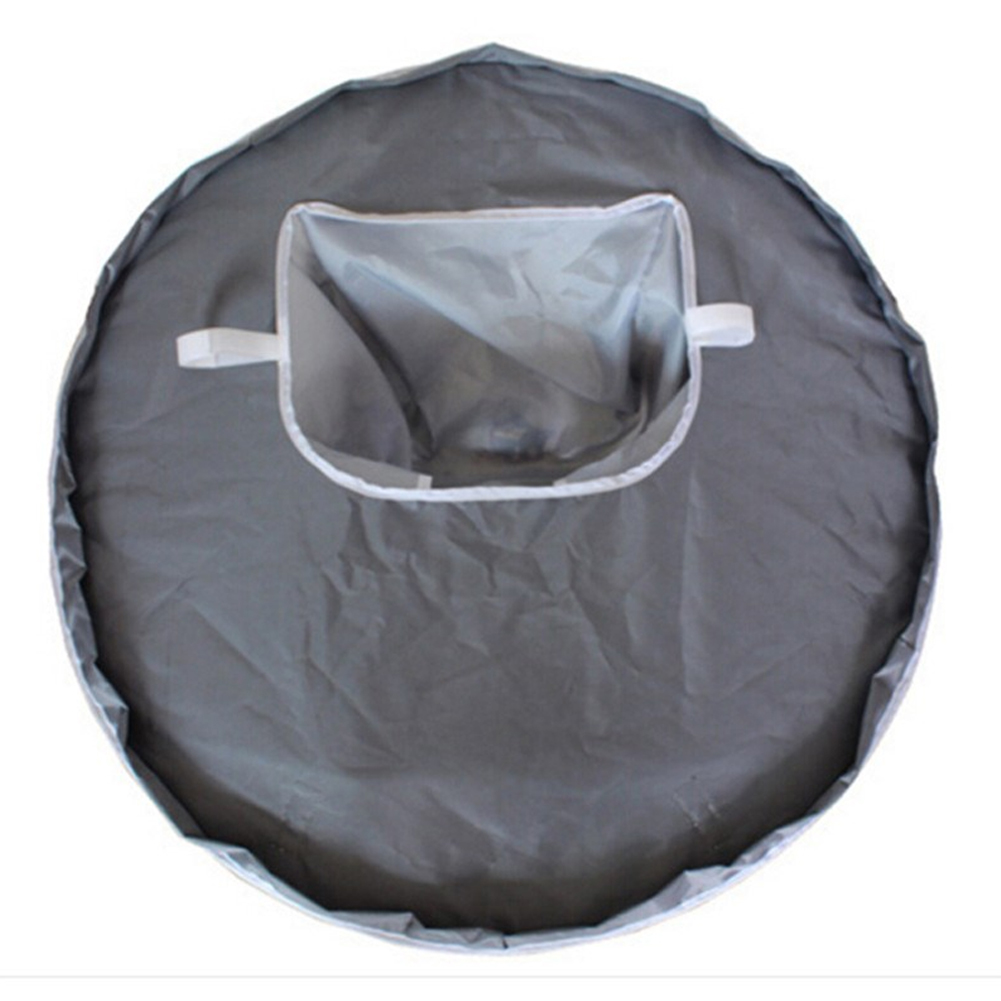 Kitchen Portable Pads Anti-throw Waterproof Easy Clean Foldable Baby Feeding Hole Home Multifunction Round Table Mat