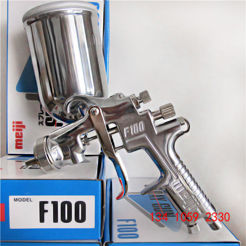 free shipping,original Japan F-100 gravity Meiji Spray Gun, F100 painting gun, 1.0 1.3 1.5mm nozzle size to choose, car painting