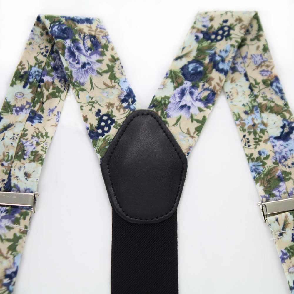 Jemygins moda suspensórios gravata borboleta bolso cachecol conjunto de algodão flor estilingue masculino e feminino qualidade couro estilingue