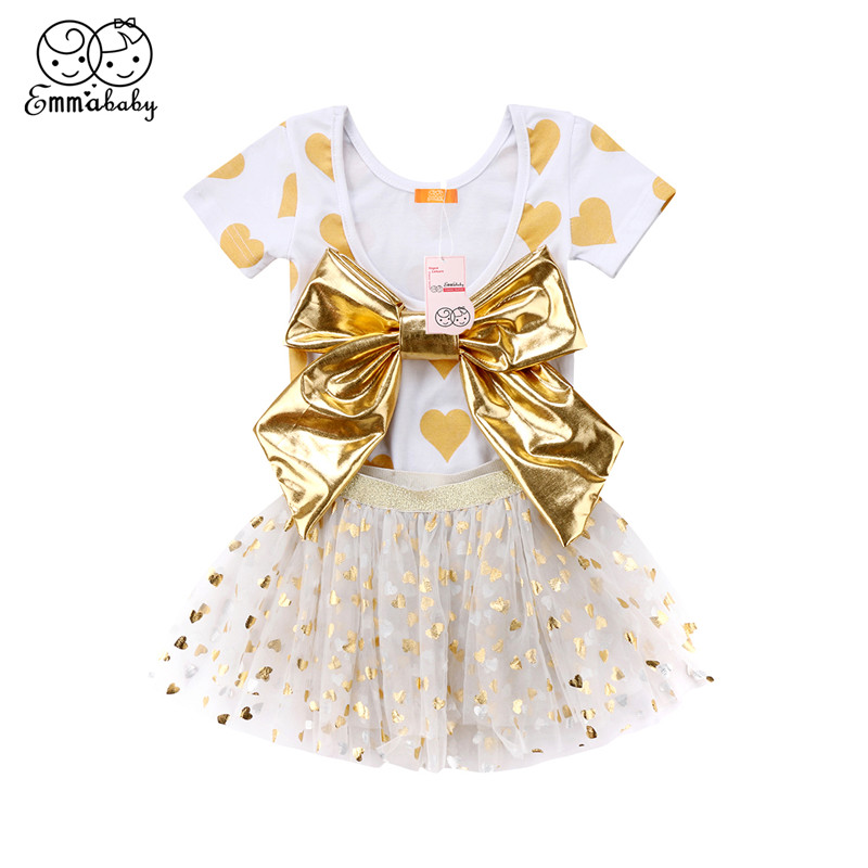 Summer Baby Girls Clothes Set 2018 Fashion Newborn Baby Girls Short Sleeve Romper Tops+Tutu Tulle Skirt 2pcs Outfit Kids Clothes