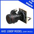 "AHD Camera 1080P 2.8-12mm Motorized Zoom & Auto Focal Lens 1/3"" SONY CMOS IMX322 AHD CCTV camera module board"