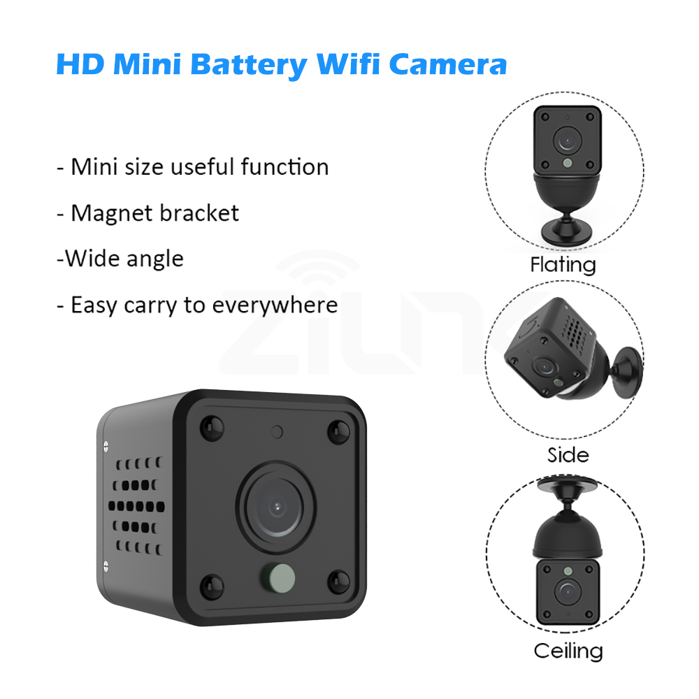 Tuya Wifi Camera 1080P Smart Home Security Baby Monitor 140 Degree Wide Angle Wireless Mini IP Camera Built-in Battery IPCAM