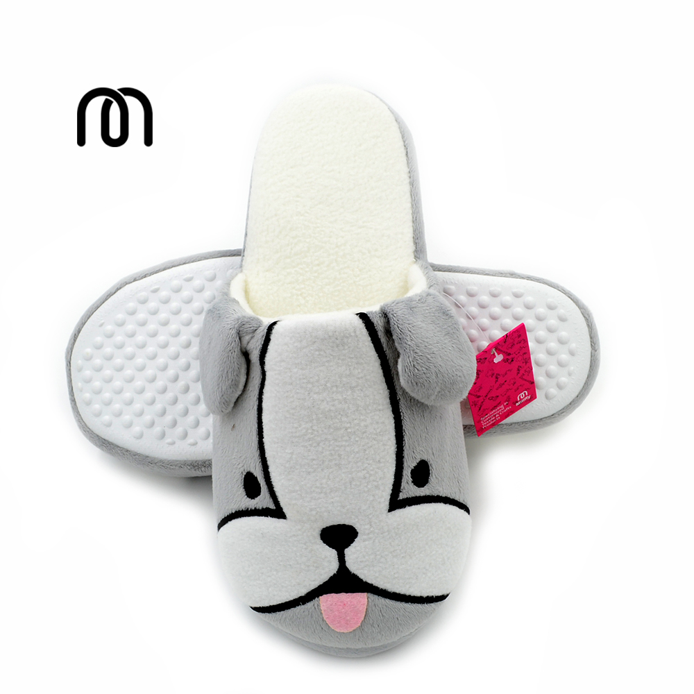 Millffy cute cartoon puppies home slippers indoor non-slip warm slippers thickness cotton slippers for women shoes zapatillas winter new men and women cotton slippers cute cartoon lion shape non slip soft sole lovers indoor slippers plush warm home shoes
