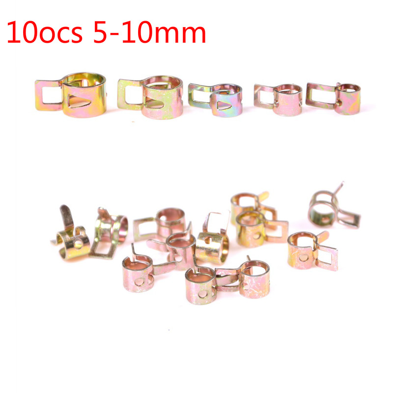 8mm //10mm Fuel Line Hose Spring wire  Clips Water Pipe HOSE Clamps 5MM //6mm