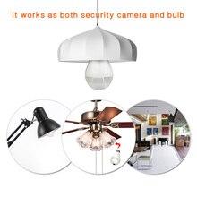 Bulb Light Wireless IP Camera Wi-fi FishEye 960P 360 Degree