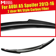High-quality A5 Rear Spoiler For Audi A5Q 2-Door Carbon Fiber Trunk M4-Style Tail Lid Boot Lip Wing 13-16