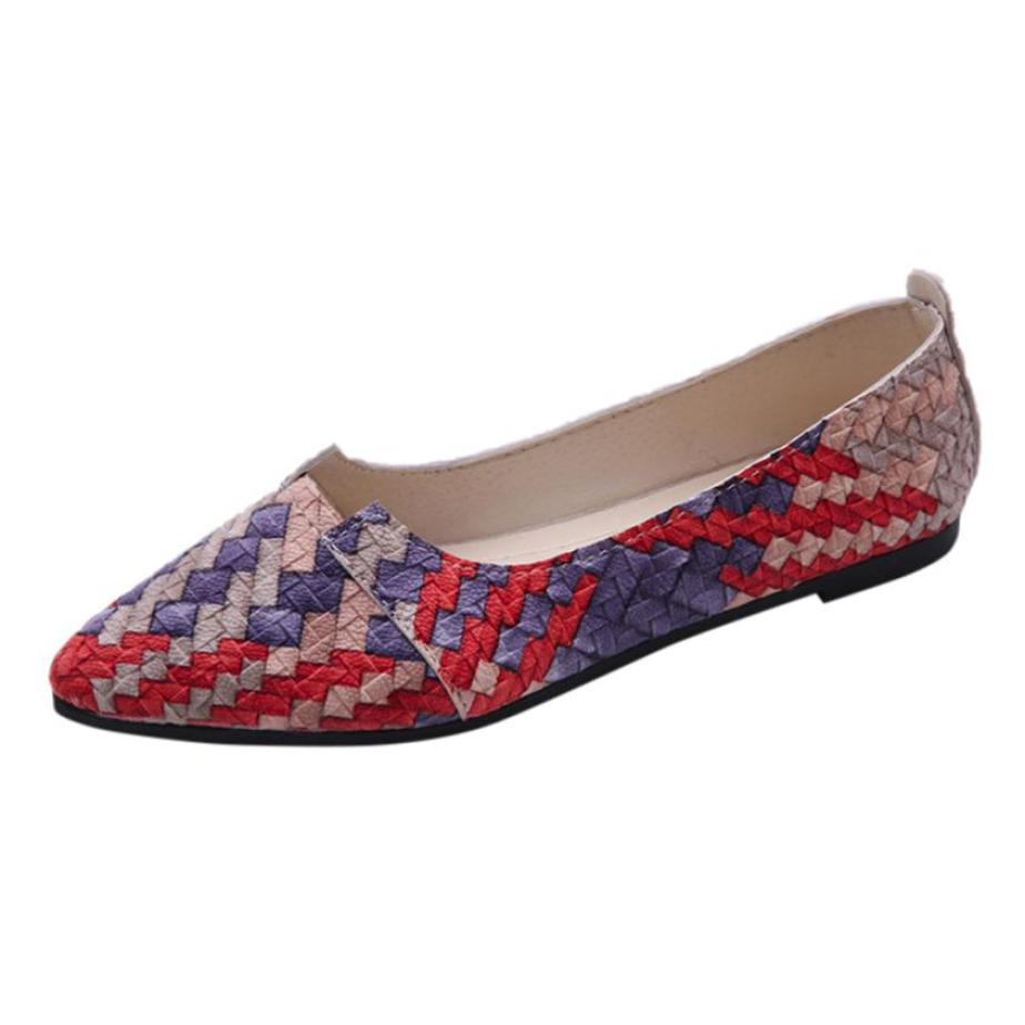 xiniu Women Casual Multicolor 2018 All Seasons Ballet Slip On Flats Loafers Shoes Pointed Toe Casual shoes flats mother shoes covoyyar 2018 plaid pattern women loafers concise pointed toe lady ballet flats spring slip on casual shoes plus size 40 wfs923