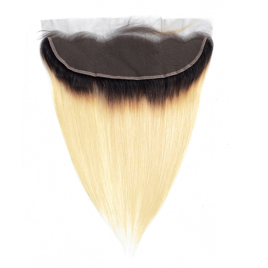 Ombre Blonde 1B 613 Lace Frontal Closure Remy Brazilian Straight Human Hair 13x4 Lace Front Closure