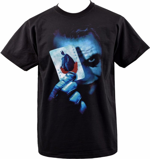 ce7b5a0c Mens Black T-Shirt Batman Joker Playing Cards Dark Knight Heath Ledger S  3XL Hipster Tees Summer Mens T Shirt