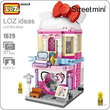 LOZ Mini Blocos Arquitetura Maquiagem Loja Cidade Bloco De Construção Série de Mini Modelo de Rua Loja Montagem Tijolos Modelo DIY 1629