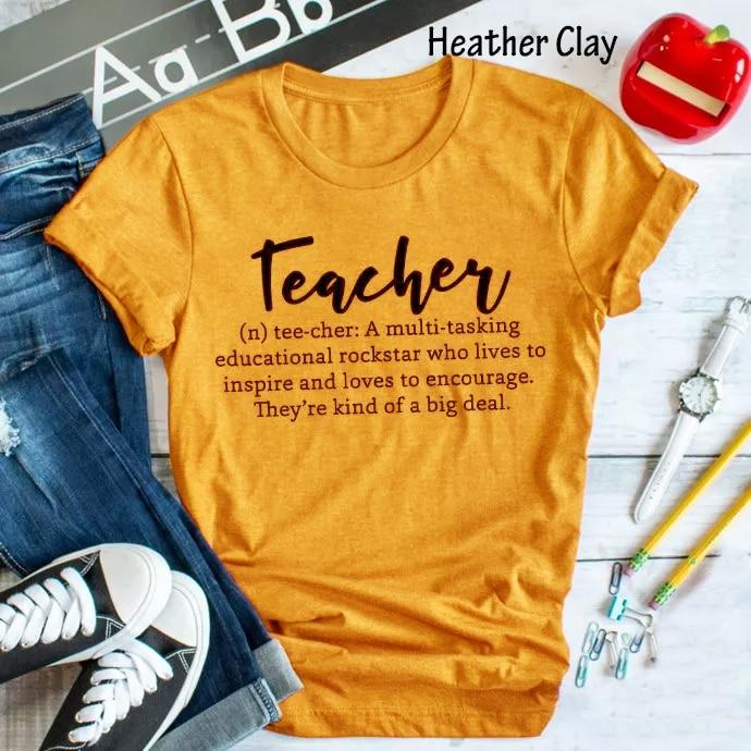 Футболка для учителя с буквенным принтом гранж хлопковая Повседневная желтая рубашка в эстетике tumblr женские модные топы со слоганом художе...