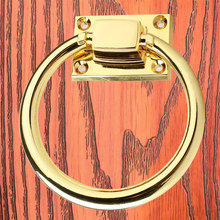 Circle Handles Color Gold Silver Black Ring Zinc Alloy Door Pulls Cabinet Drawer Knobs For Furniture Hardware