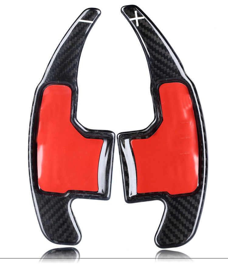 Скобы с обушком на 2 Шт Углеродного Волокна Рулевое колесо переключения передач расширение для Ford Mustang EcoBoost GT GT500 Шелби GT 350 для укладки волос