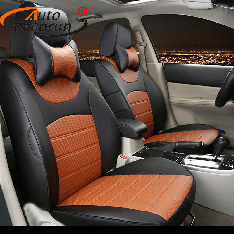 Autodecorun Dedicated Pu Leather Cover Seats For Subaru Impreza Accessories Seat Covers Set Car Cushion Supports Styling