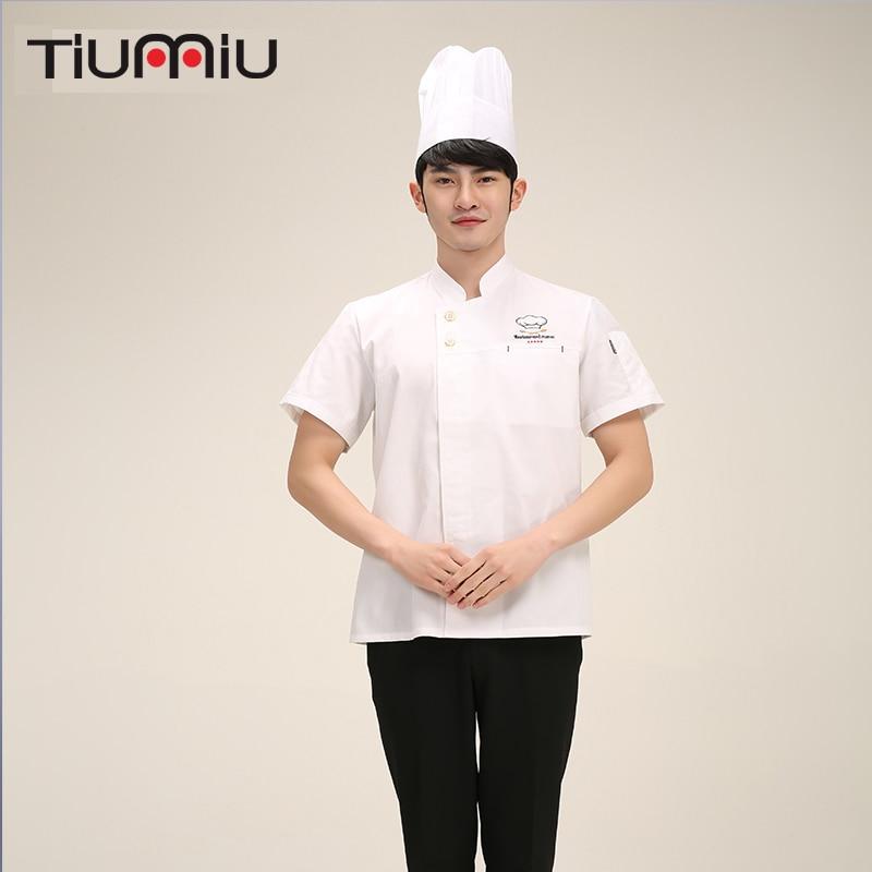 Summer Latest Chef Clothing Hotel Dedicated Short-sleeved Kitchen Professional Fashion Cooking Chef Uniforms Kitchen Shortsleeve