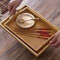 Домашняя мебель в японском стиле бамбуковое поднос для чая бытовой большой поднос для чая прямоугольная тарелка бамбук